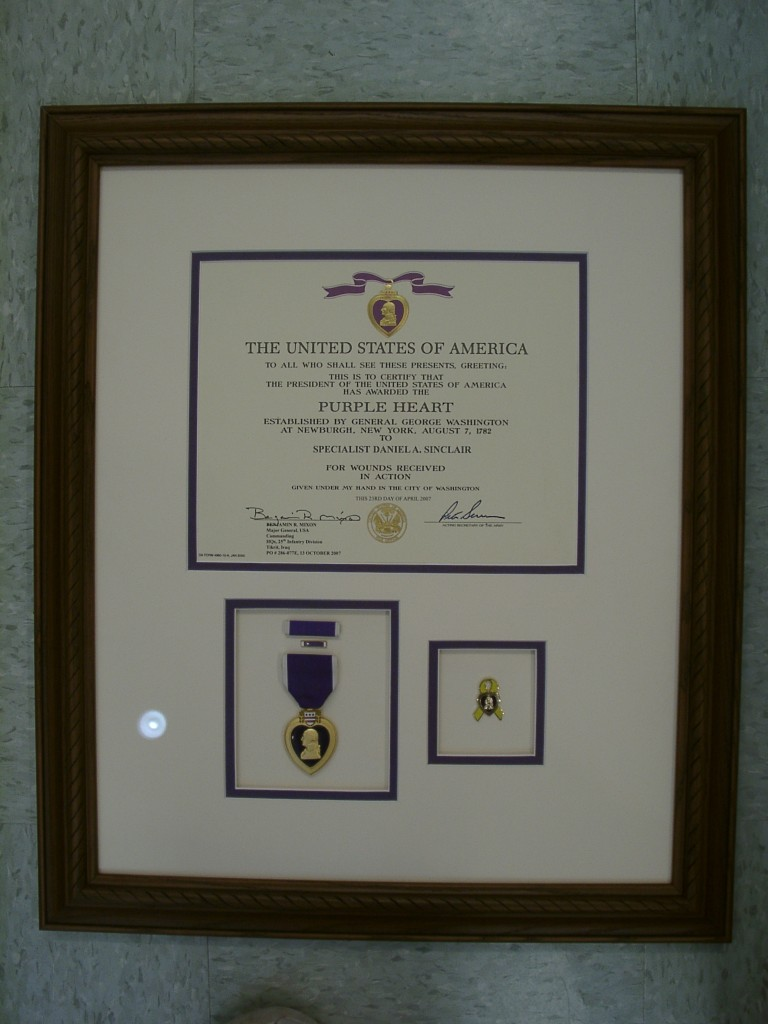 Purple Heart with Certificate